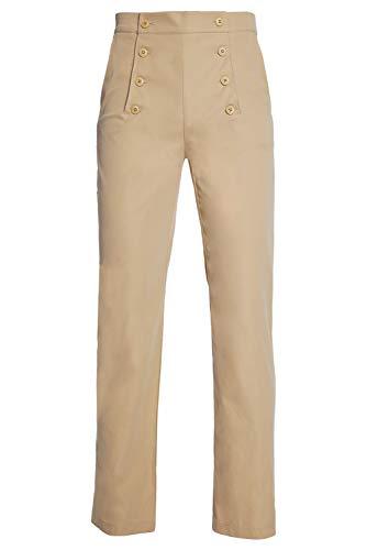 dolass Pantalones Medievales para Hombre Traje renacentista Retro Pantalon Caqui Chino gotico Victoriano Vintage de Steampunk