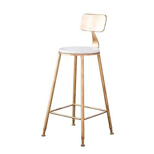 XiuHUa barkruk barkruk met rugleuning voor keuken bar kruk goud metaal roze fluweel kussen moderne eetkamer stoelen zithoogte 46 x 46 x 90 cm barkruk