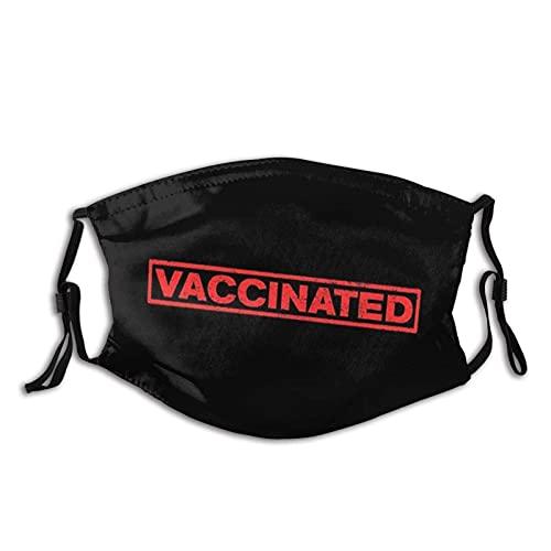 Accinated C-Ovid - Maschera da viso lavabile, regolabile, alla moda, unisex, con 2 filtri passamontagna
