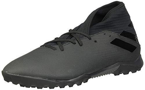 adidas Men's Nemeziz 19.3 Turf Boots Soccer Shoe, Black/Black/Utility Black, 9.5 M US