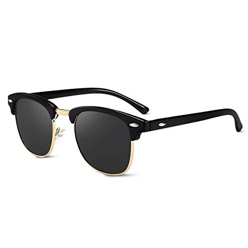 LumiSyne Moda Gafas De Sol Polarizadas Hombre Mujer Súper Ligero Media Montura UV 400 Gafas De Sol Cuadradas Para Conducción Al Aire Libre Viajar Regalo