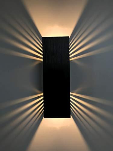 Applique da parete SpiceLED/Black Edition/ShineLED, bianco caldo 30W COB ad alta potenza lampada da parete lampada LED effetto