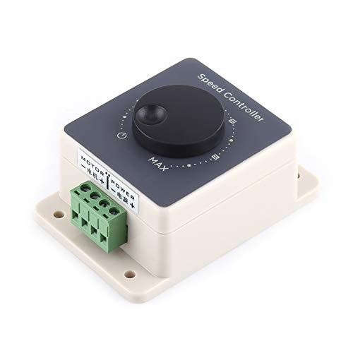 Controlador de velocidad de motor de 12 V, DC10-60V 20A modulador de ancho de pulso PWM controlador de velocidad de motor carcasa impermeable
