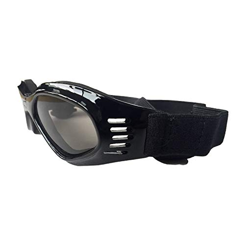 Hunde Sonnenbrille,Hundebrille Hundesonnenbrille UV-Schutz Haustierbrille Anti-UV Augenschutz Welpenbrille mit verstellbarem Kopf Wasserdichte Winddichte Sonnenbrille für Kleine Mittelgroße Hündchen