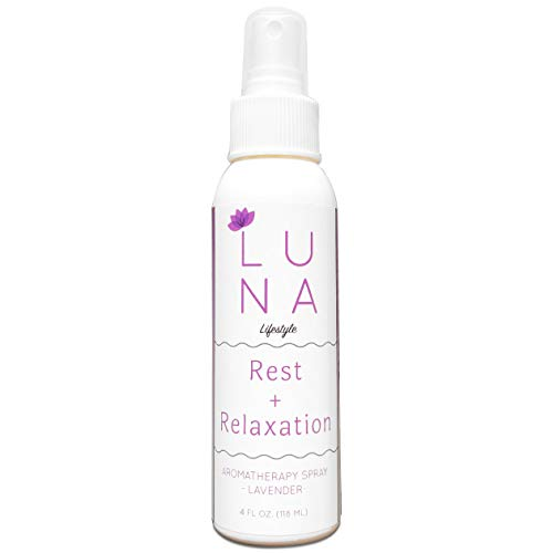 Luna Lifestyle Premium Lavender Aromatherapy Spray - Great for Yoga, Pillow Spray, Relaxation, Sleep, and Room Spray - 100% Pure Lavender Essential Oil Mist - 10% to Charity