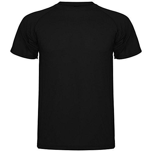 ROLY Camiseta técnica de Hombre Montecarlo, Negro (L)