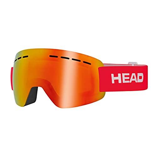 Head Solar FMR Gafas de esqui, Unisex adultos, Rojo, M