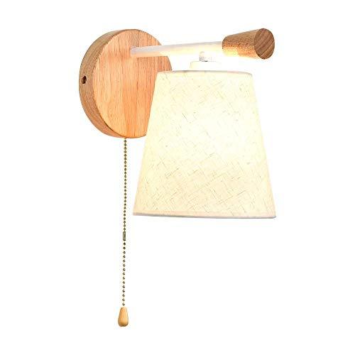 HDDD Erosb wandlamp, van massief hout, wandlamp, voor slaapkamer, eenvoudige achtergrond, eenvoudige wand, woonkamer, hal, balkon en leeslamp op het nachtkastje (kleur A: