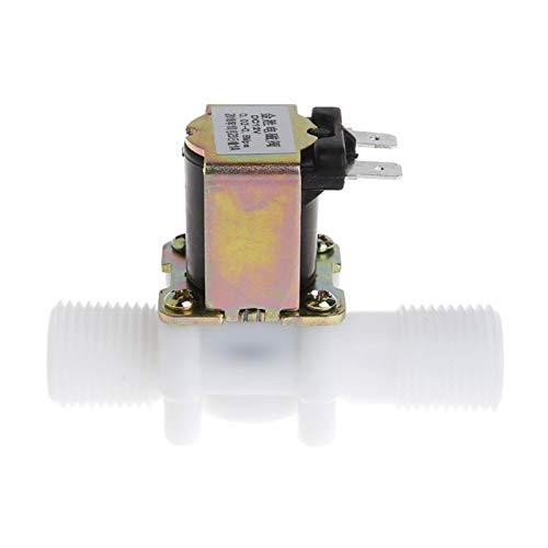 ROYAL STAR TY Válvula solenoide eléctrica de 12 V Magnético DC N/C Interruptor de Flujo de Entrada de Aire de Agua 1/2' by