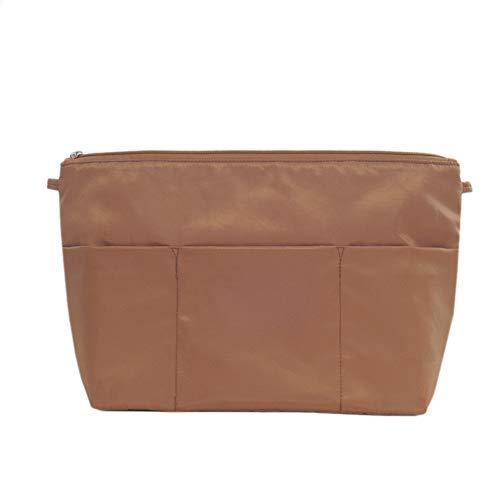 Cestbon Taschenorganizer Innentaschen Für Handtaschen, Wasserdicht Nylon, Groß-Braun,Braun