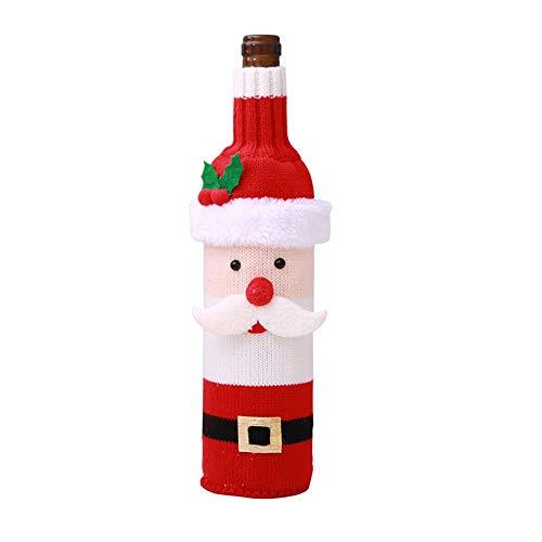 HUDEMR Colgante de Navidad DecoraciónBotella de vino Cubierta de Navidad Decoraciones Festival Decoración de Hotel RestaurantHome Accesorios