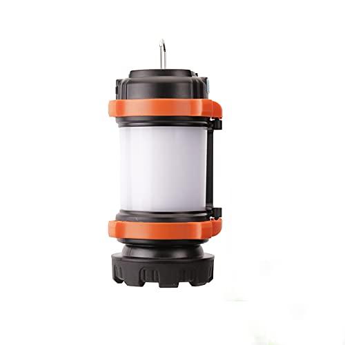 Buyup Lámpara de camping portátil LED para tienda de campaña, lámpara portátil de mano LED, iluminación de emergencia para exteriores (naranja)
