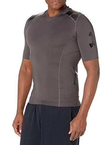 Under Armour Men's Perpetual Superbase Half sleeve, Charcoal (020)/Black, Large