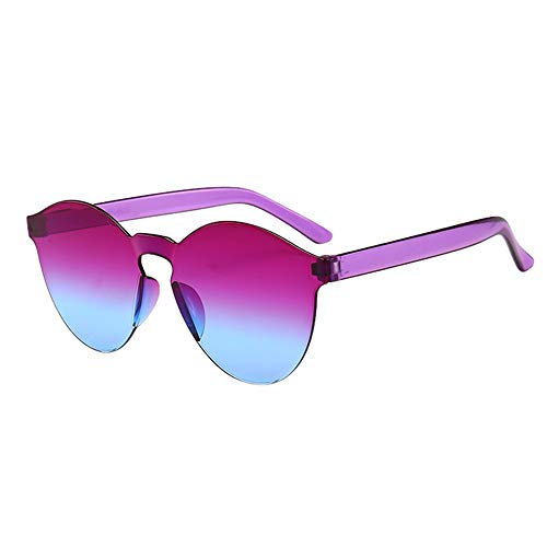 Gafas de Sol Hombres y Mujeres, URIBAKY Clásico Sin Marco Montura Gafas de Sol Una Pieza Espejo Reflexivo Anteojos para Carreras, Viaje, Conducción, Golf, y Actividades Exteriores …