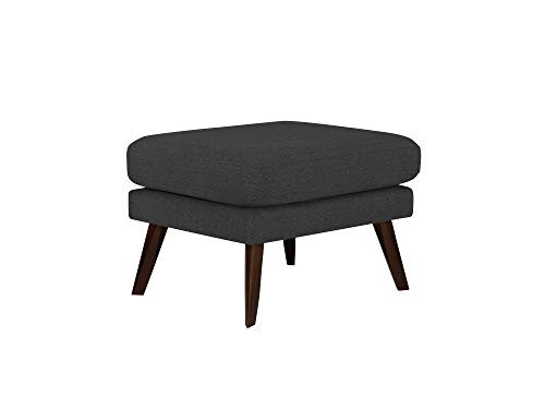 Mazzini - Puf Elena, 1 plaza, color gris oscuro, 65 x 52 x 45 cm