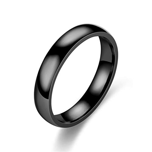 CXWK Ring Male Personality Titanium Steel Male Fashion Domineering Simple Student Single Lettering Finger Ring