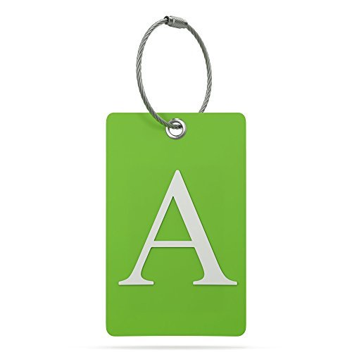 Luggage Tag Initial – Fully Bendable Tag w/Stainless Steel Loop (Letter A)
