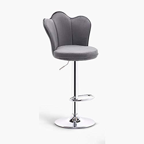 PDVCB Chaise Chaise de Bar Tabouret de Bar Banc Haut Ascenseur Rotatif Petit-déjeuner Bar Comptoir Cuisine Et Famille Bar Chaise Caisse enregistreuse Chaise pivotante Restaurant Café (Color : Gray)