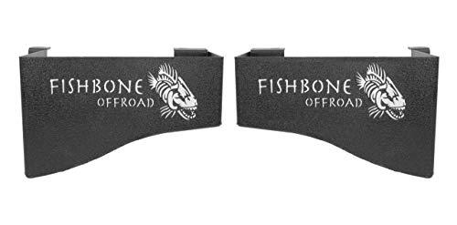 Fishbone Offroad FB25081 Jeep JK Wheel Well Storage Bins 07-17 Wrangler JK 4 DR Black Textured Powdercoat Steel