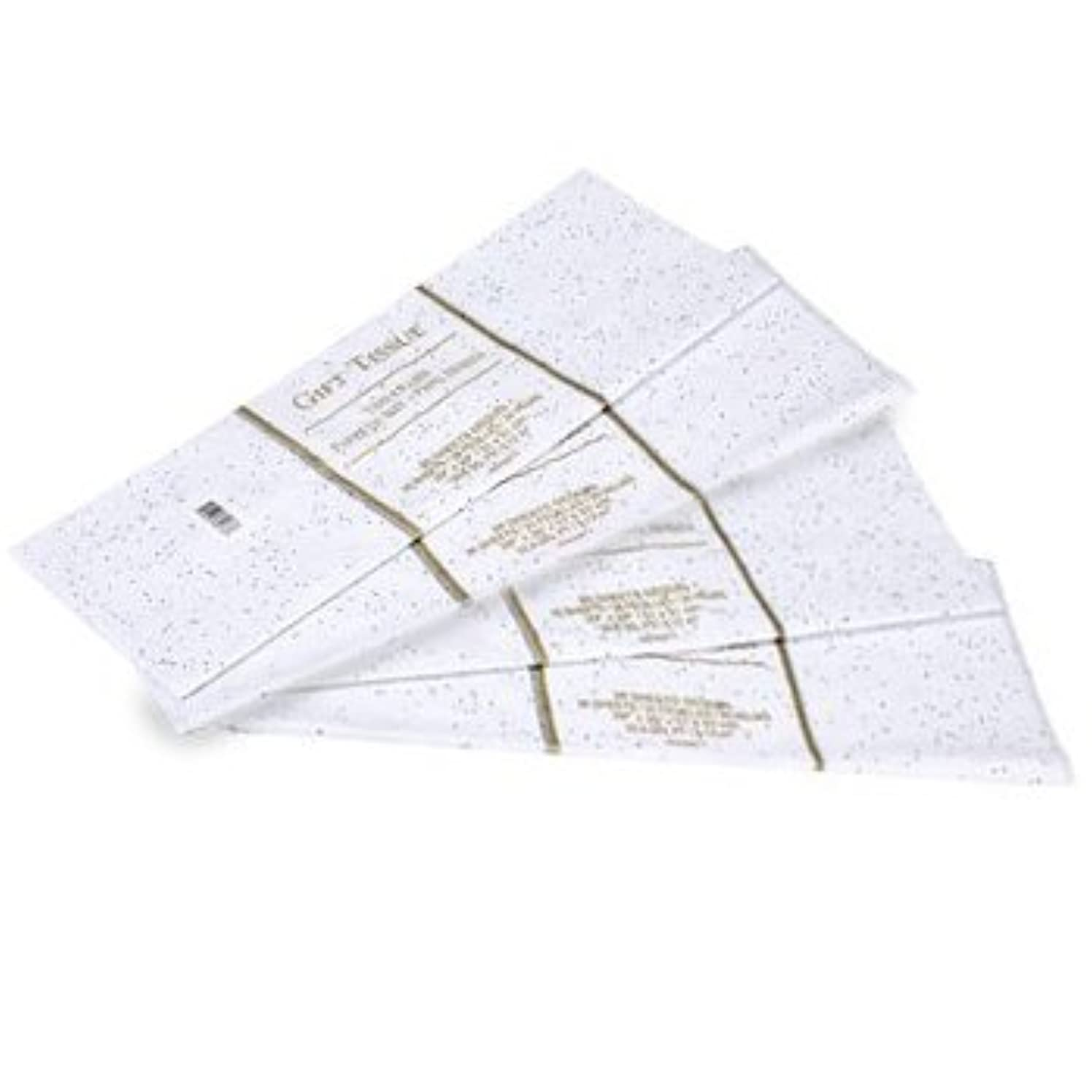 Gift Wrap Bag Tissue Paper White Foil Sequin Sparkle 40 Sheets 20 x 20 Inches