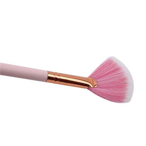 Mvude Pinceaux de Maquillage Rose Set 4pcs Portable Kabuki Liquid Cream Brushes Cosmetic Tools,Rose (10 bâtons)