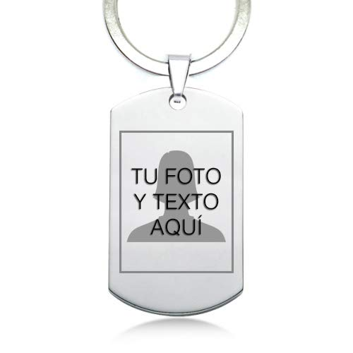 TusPlacas Llavero con Foto Personalizada