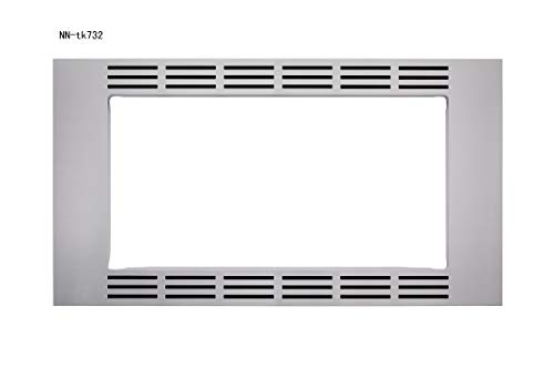 "Panasonic 30"" Microwave Trim Kit for Panasonic 1.6 cu ft Microwave Ovens – NN-TK732SS (Stainless Steel)"