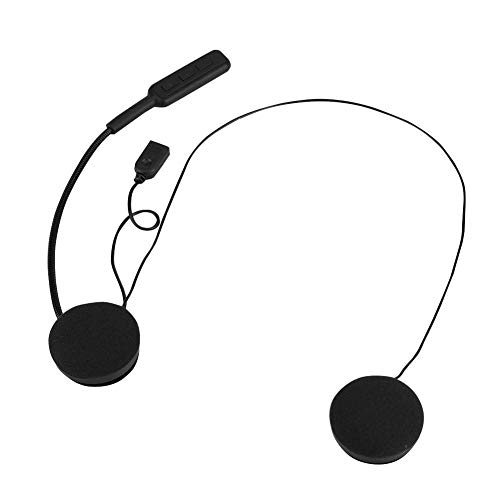 Socobeta Auriculares inalámbricos con forma de casco de ahorro de energía recargables para teléfono celular con cable de carga incorporado batería de 150 mA
