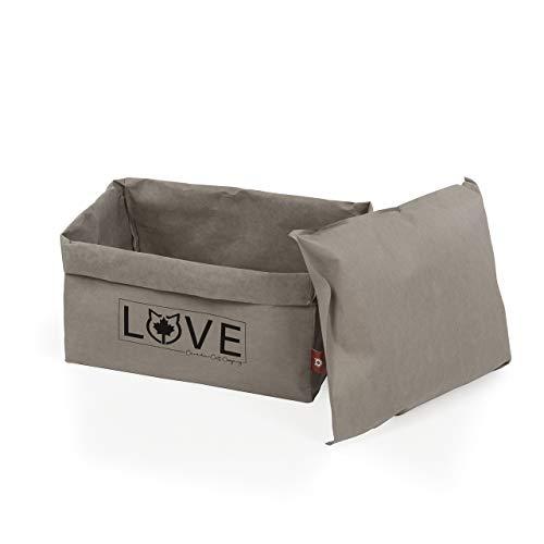 CanadianCat Company ®   Katzenbett 45 x 35 x 35 cm - Kuschelbett, Bettchen für alle Katzen die Pappe und Papier lieben
