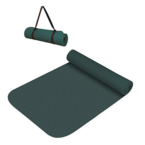 VIFITKIT ® Anti Skid Yoga Gym Workout and Flooring Exercise Long Size Yoga Mat for Men and Women with Bag (Army Green, 8 mm)