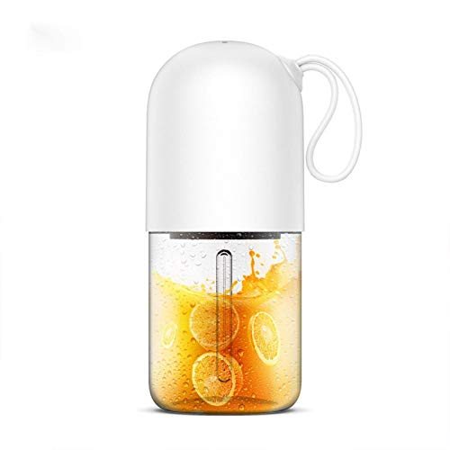 Zjcpow Fast 300ml Portable Electric Juicer Juicer Mini Capsule Shape Powerful Travel Juicer Cup Homemade Juice (Color : White) xuwuhz (Color : White)