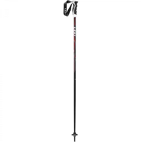 LEKI Alpex Ultimate Skistöcke, Schwarz/Anthrazit/Weiß/Rot, 130 cm