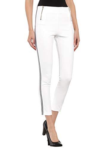 Alba Moda Damen Hose Weiß 34 Kunstfaser