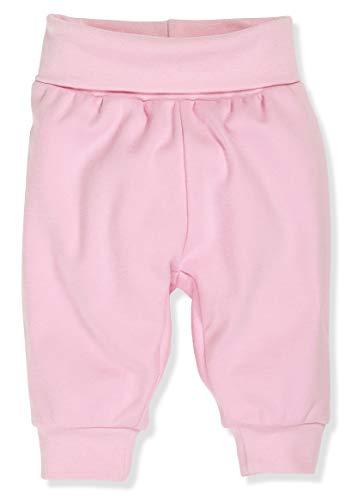 Schnizler Kinder Pump-Hose aus 100% Baumwolle, komfortable und hochwertige Baby-Hose mit elastischem Bauchumschlag, Rosa (Rosa 14), 86