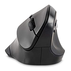 Ergonomic vertical mouse employs an angled slope to keep your wrist in an ergonomic neutral handshake position, which helps relieve soft tissue compression and improves wrist and forearm posture for better comfort and muscle support Mouse dimensions ...