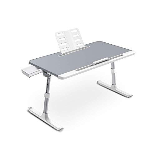 HYY-YY Lazy cama Escritorio portátil plegable de elevación ajustable pequeña mesa adecuada for el estudiante dormitorio Juegos de dormitorio de la sala de muebles de oficina (Color: Gris, Tamaño: 450x