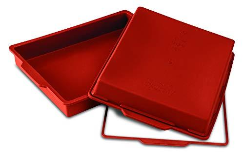 SFT300 Molde de Silicona Rectangular, 280 x 220 h 40 mm, Color Terracota