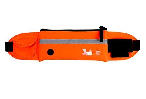 Multifonctionnel Sac de sport en plein air Fitness Backpack Courir Pocket, Orang