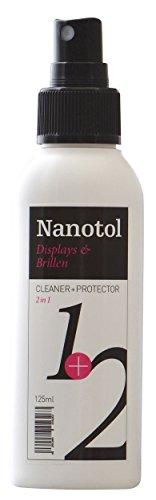 Nanotol 2 in 1 Detergente per occhiali con effetto loto – Spray detergente con nano sigillante per occhiali e display – (125 ml)