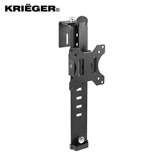 """kriëger km1801Universal Halter Single Monitor Kabine Mount passend für die meisten Monitore 43,2cm-32\""""Verstellbarer Ständer Kleiderbügel Befestigung Klemme"""