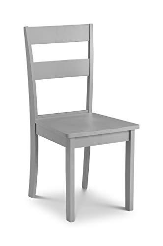 Julian Bowen Kobe Set mit 2 Esszimmerstühlen, MDF, grau, Einheitsgröße