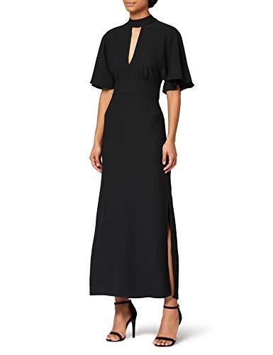 Amazon-Marke: TRUTH & FABLE Damen Kleid Acb042, Schwarz (Black), 32, Label:XXS
