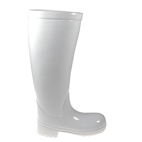 Paragüero, material: cerámica blanc - modelo botas de agua - botas de goma