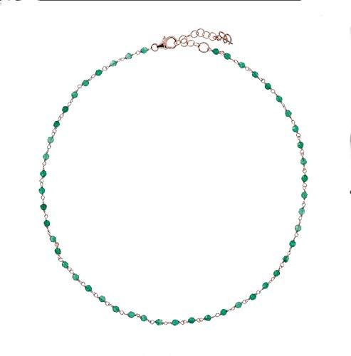 Collar Bronzallure Amorette ágata verde WSBZ01252.GAG-SH