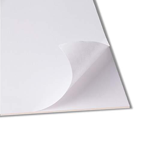 Rückwände selbstklebend - 50x70cm - 1,5mm stark - Karton mit einseitig Selbstklebender Oberfläche - Puzzlekarton - Klebekarton - Kaschierkarton
