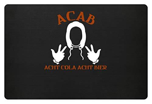 SPIRITSHIRTSHOP A.C.A.B. - Acht Cola Acht Bier - All Cops Are Bastards - Alle Polizisten Sind Bastarde - Fußmatte -60x40cm-Schwarz