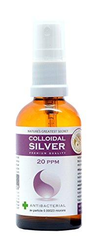Premium Quality Colloidal Silver 20 ppm Spray High pH 9.0