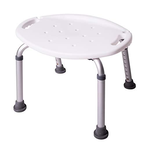ONVAYA Taburete de baño | Taburete de Ducha | Asiento de la Ducha | Silla de Ducha | Ovalado Blanco 150kg