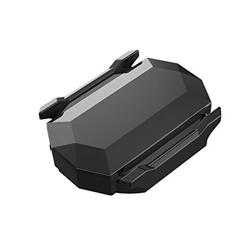 LNIMIKIY 2-in-1-Geschwindigkeitssensor, wasserdicht, Fahrradcomputer, kabelloser Geschwindigkeits- und Trittfrequenzsensor mit Dual-Modul, Bluetooth und ANT+ für Reit-App, Sportuhr (schwarz)