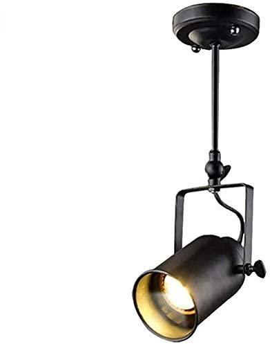 HZWDD Foco LED de Varilla Larga Downlight American Classical Industrial Metal Luz de Techo Retro Creativo Barra Ajustable Araña E27 Araña Brazo basculante Tienda de Ropa Decoración Araña de Techo
